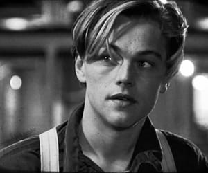 titanic, leonardo dicaprio, and black and white image
