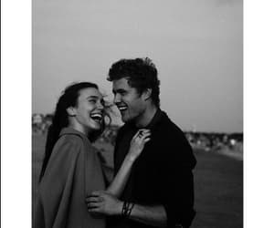 black and white, couples, and happiness image