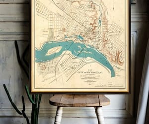 city, historical map, and etsy image