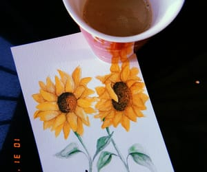 coffee, paint, and sketch image