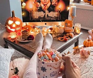 autumn, Halloween, and harry potter image