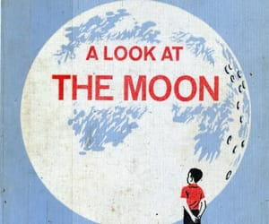 moon, indie, and blue image