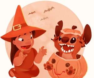 disney, Halloween, and lilo and stitch image