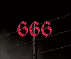 666, black, and red image