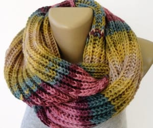 christmas, knitted scarf, and knit scarf image