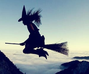 witch, Halloween, and black and white image