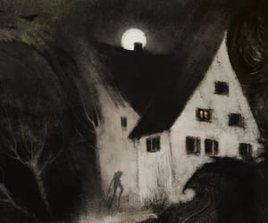 horror, illustration, and moon image