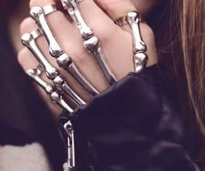 skeleton, accessories, and hand image