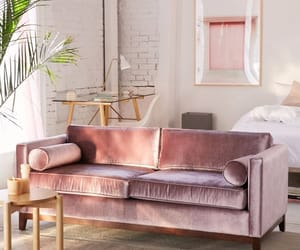 interior, pink, and living room image