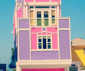 house, pink, and barbie image