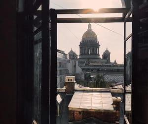 architecture, saint petersburg, and sun image
