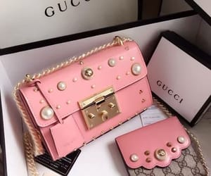 pink, bag, and gucci image