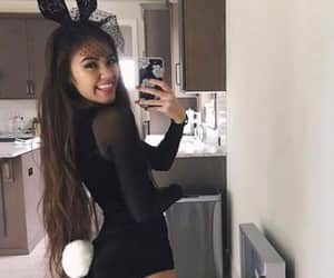 Halloween, bunny, and girl image