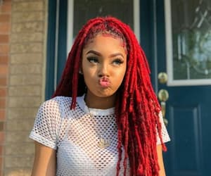 edges, natural hair, and red hair image