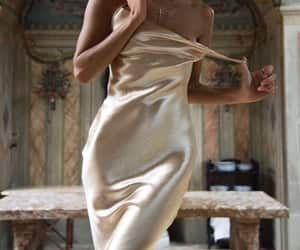 dress, silk, and style image