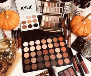 makeup, fall, and pumpkin image