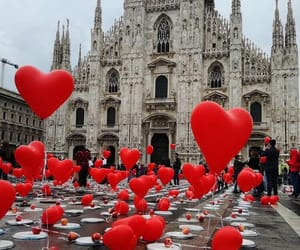 love, balloons, and travel image