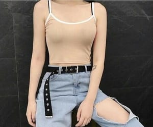 belt, jeans, and comfortable image