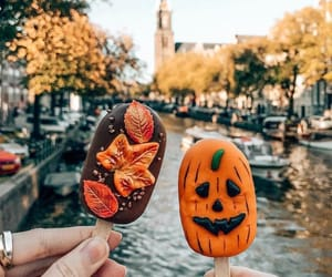 autumn, leaves, and Halloween image