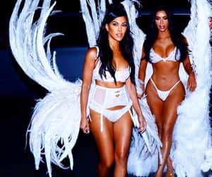 kim kardashian, kourtney kardashian, and angel image