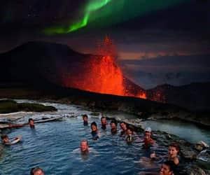 aurora, borealis, and pool image