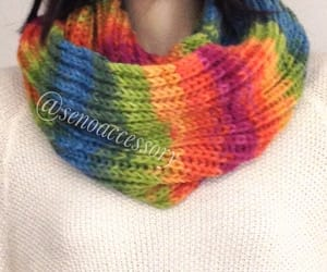 etsy, chunky scarf, and circle scarf image