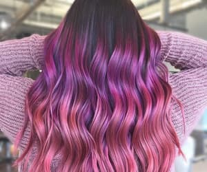 hair, colorhair, and purple-pinl haircolor image