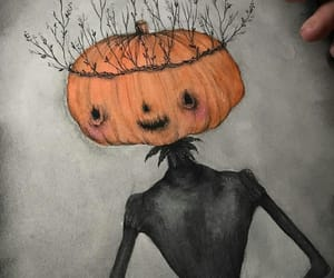 art, dark, and Halloween image