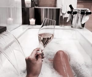bath, relax, and drink image
