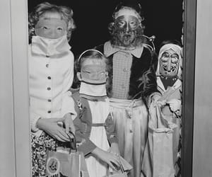 black and white, costumes, and creepy image