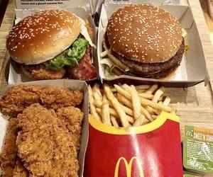 burger, potato chips, and mc donald image