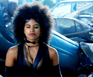 deadpool, domino, and gif image