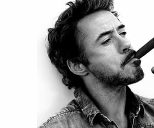 robert downey jr, sexy, and black and white image