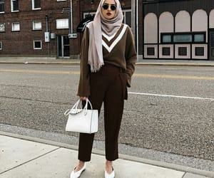 color, hijab, and outfit image