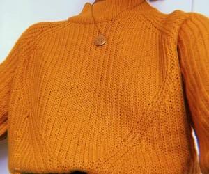 details, orange, and sweater image