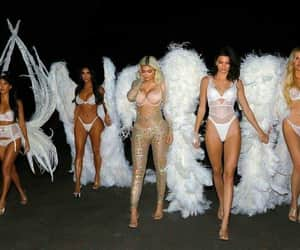 angel, kim kardashian, and khloe kardashian image