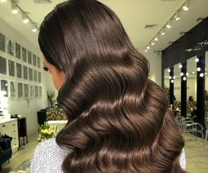 brown hair, long hair, and waves image