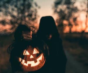 pumpkin, Halloween, and spooky image