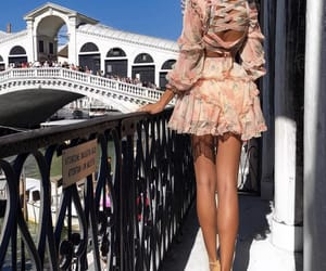 fashion, balcony, and dress image