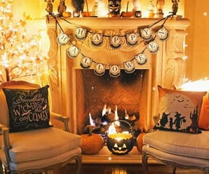 decorations, Halloween, and lights image
