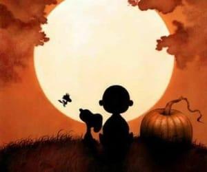 charlie brown, Halloween, and moon image