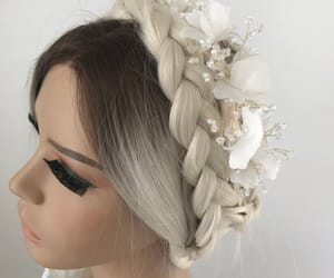 etsy, bridal accessories, and pearl tiara image