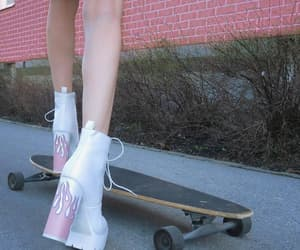 grunge, pink, and skate image