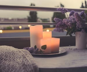 candle, flowers, and romantic image