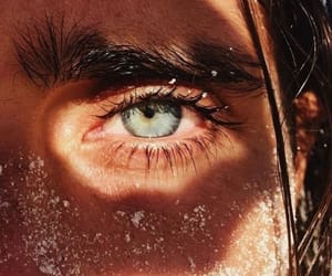 eyes, blue, and beach image