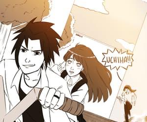 hinata, sasuke, and hina image