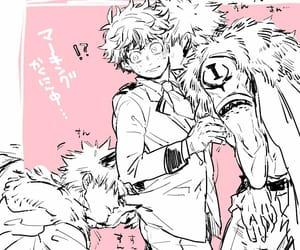 kacchan, bakugou, and midoriya image