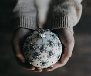 bauble, gift, and holiday image