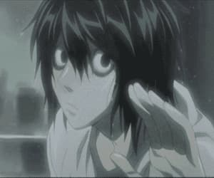 death note, gif, and L image