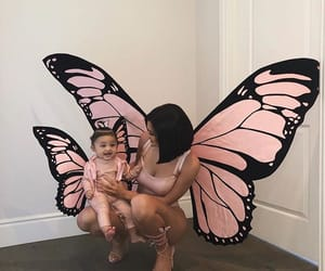 butterfly, kylie, and travis scott image